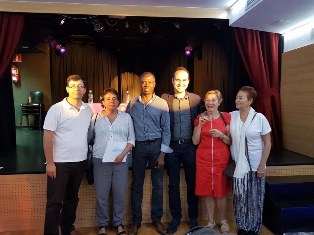 Marta Gómez y Jose Manuel Calvo con compañeros del Círculo de Barajas